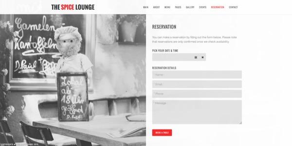 web para restaurantes y cafeterías