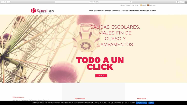Web con catálogo Kultural Tours