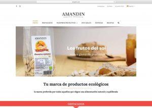 Web con catálogo Amandin Agencia diseño web barcelona