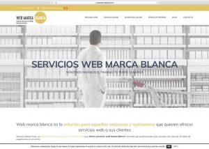 Página web y tienda online Servicios web marca blanca Agencia diseño web barcelona