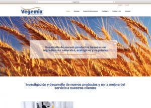Diseño Web Vegemix Agencia diseño web barcelona