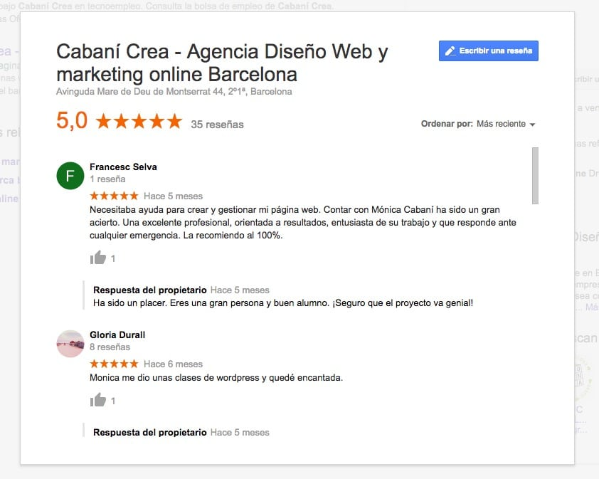 Seo Local reseñas Google