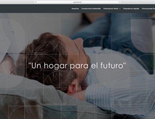Página Web Promotora inmobiliaria Quorania