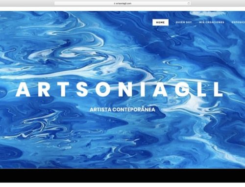Diseño Web artista contemporánea